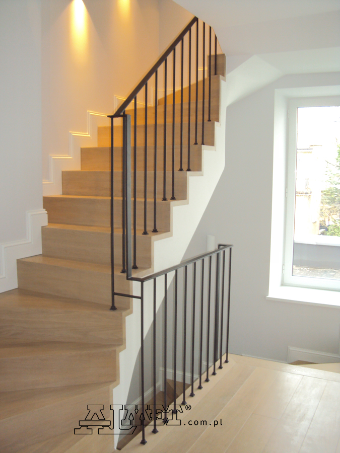 Interior wrought iron staircase railings balustrades - How to install interior stair railings ...