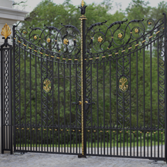 Gates and wrought iron fence